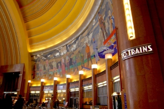 Union Terminal to trains